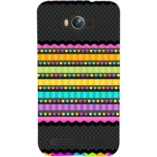 Snapdilla Different Dotted Pattern Pink Stripes Colourful Rainbow Back Cover For Asus Zenfone Max ZC550KL :: Asus Zenfone Max ZC550KL 2016 :: Asus Zenfone Max ZC550KL 6A076IN