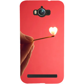 Snapdilla Pink Background Burning Love Unique Heart Shaped Cell Cover For Asus Zenfone Max ZC550KL :: Asus Zenfone Max ZC550KL 2016 :: Asus Zenfone Max ZC550KL 6A076IN