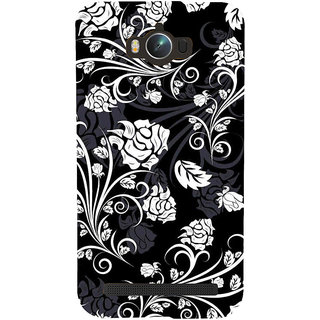 Snapdilla Classic Black And White Floral Antique Cool Painting Simple Cell Cover For Asus Zenfone Max ZC550KL :: Asus Zenfone Max ZC550KL 2016 :: Asus Zenfone Max ZC550KL 6A076IN