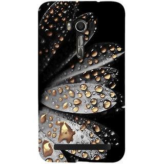 Snapdilla Black Background Attractive Artistic Floral Golden Water Flower Drops Mobile Case For Asus Zenfone Go ZC500TG