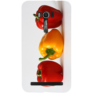 Snapdilla Kitchen Chef Capsicum Red Bell Pepper Colorful Unique Mobile Cover For Asus Zenfone Go ZC500TG