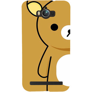 Snapdilla Funny Clipart Amazing Cool Brown Color Teddy Bear Cartoon Mobile Cover For Asus Zenfone Max ZC550KL :: Asus Zenfone Max ZC550KL 2016 :: Asus Zenfone Max ZC550KL 6A076IN