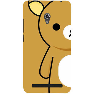 Snapdilla Funny Clipart Amazing Cool Brown Color Teddy Bear Cartoon Mobile Cover For Asus Zenfone 6 A600CG