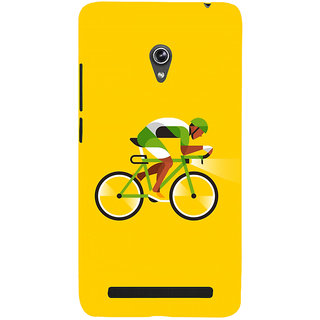 Snapdilla Yellow Background Bicycle Ride Simple Unique Different Cell Cover For Asus Zenfone 6 A600CG