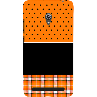 Snapdilla Orange Background Black Dot Stripes Pattern Best Cute Awesome Branded Cell Cover For Asus Zenfone 6 A600CG