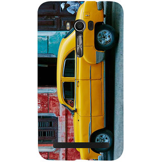 Snapdilla Yellow Color Vintage Old Is Gold Taxi Sports Car Automobile Designer Case For Asus Zenfone Go ZC500TG