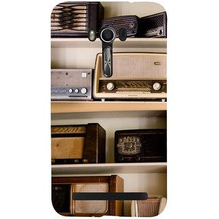 Snapdilla Lovely Vintage Radio Shelf Store Music Lovers Light Background Phone Case For Asus Zenfone Go ZC500TG