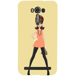 Snapdilla Light Background Animated Stylish Modern Cartoon Lady Smartphone Case For Asus Zenfone 2 Laser ZE601KL