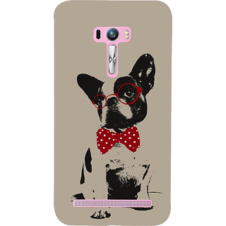 Snapdilla Crazy Cute Looking Unique Light Background Dog Sketch 3D Print Cover For Asus Zenfone Selfie ZD551KL