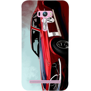 Snapdilla Lovely Classic Wonderful Vintage Red Sports Race Car Creative Designer Case For Asus Zenfone Selfie ZD551KL