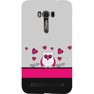 Snapdilla Grey Background Crazy Animated Pretty Owl Pink Little Hearts Lovers Mobile Case For Asus Zenfone Go ZC500TG