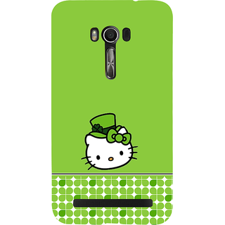 Snapdilla Green Color Background Funky Artistic Hello Kitty Cartoon Best Designer Case For Asus Zenfone Go ZC500TG