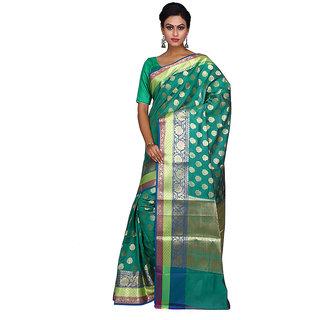 Milonee Black Self Design Silk Saree With Blouse