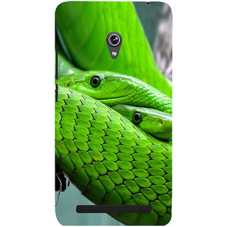 Snapdilla Cool Looking Green Color Stunning Python Snake Cell Cover For Asus Zenfone 5