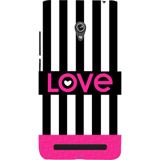 Snapdilla Black And White Beautful Stripes Lovely Pink Best Love Quote Girly 3D Print Cover For Asus Zenfone 5