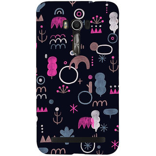 Snapdilla Black Background Different Shaped Chalk Art Different Pattern Mobile Pouch For Asus Zenfone Go ZC500TG