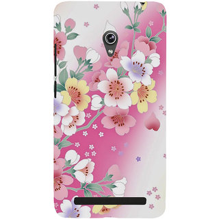 Snapdilla Artistic Floral Pink Background Modern Art Cool Painting Smartphone Case For Asus Zenfone 5