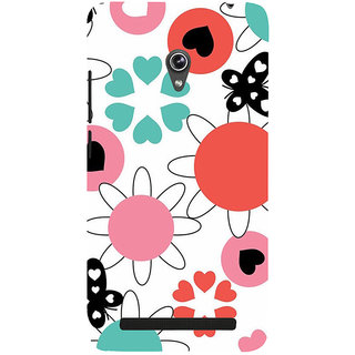 Snapdilla Heart Shaped Lovely Floral Pattern Colorful Butterfly Phone Case For Asus Zenfone 5