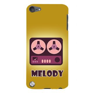 Snapdilla Stylish Animated Yellow Background Cartoon Vintage Radio Back Cover For Apple IPod Touch 5