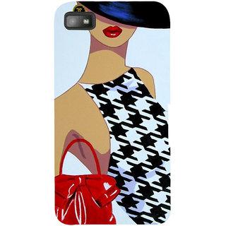 Snapdilla Trendy Classic Latest Fashion Girl Animated Designer Case For BlackBerry Z10