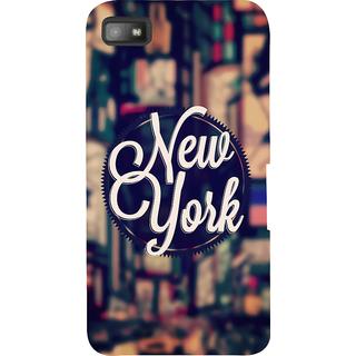 Snapdilla Unique Background Vintage New York Posh Hollywood  Designer Case For BlackBerry Z10
