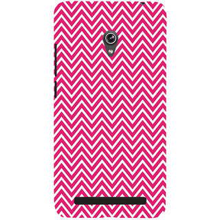 Snapdilla Cool Trendy Unique Pink Lines Stripes Pattern Simple Cell Cover For Asus Zenfone 5
