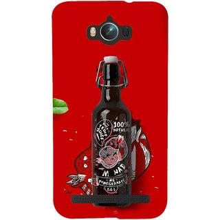 Snapdilla Red Background Beer Bottle Unique Cartoon Pomegranate Cell Cover For Asus Zenfone Max ZC550KL :: Asus Zenfone Max ZC550KL 2016 :: Asus Zenfone Max ZC550KL 6A076IN
