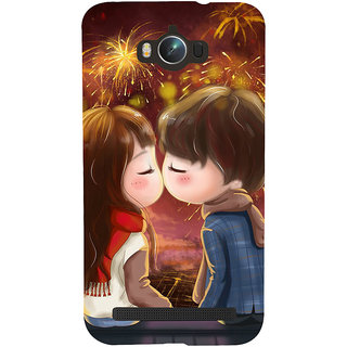 Snapdilla Colouful Cartoon Fireworks Best Girlfriend Gift First Kiss Mobile Cover For Asus Zenfone Max ZC550KL :: Asus Zenfone Max ZC550KL 2016 :: Asus Zenfone Max ZC550KL 6A076IN