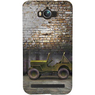 Snapdilla Brick Background Vintage Commando Classic Green Military Jeep 3D Print Cover For Asus Zenfone Max ZC550KL :: Asus Zenfone Max ZC550KL 2016 :: Asus Zenfone Max ZC550KL 6A076IN