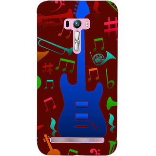 Snapdilla Brown Background Rock Star Acoustic Guitar Musical Chord Notes Smartphone Case For Asus Zenfone Selfie ZD551KL
