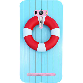 Snapdilla Skyblue Background Red And White Swimming Pool Tyre Simple Cool Smartphone Case For Asus Zenfone Selfie ZD551KL