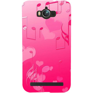 Snapdilla Pink Background Music Symbols Chord Notes Little Hearts Phone Case For Asus Zenfone Max