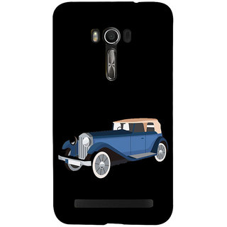 Snapdilla Black Color Background Vintage Old Model Blue Cartoon Jeep 3D Print Cover For Asus Zenfone Go ZC500TG