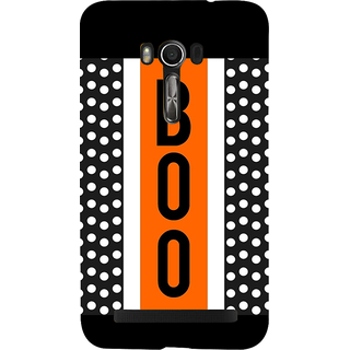 Snapdilla Black Background Dots Pattern Boo Quote Simple Good Looking Mobile Case For Asus Zenfone Go ZC500TG