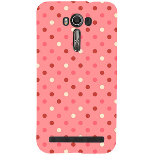 Snapdilla Artistic Modern Art Pink Background Dot Pattern Fantastic Awesome Girly Mobile Case For Asus Zenfone 2 Laser ZE601KL