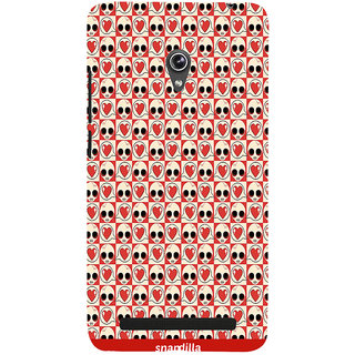 Snapdilla Funky Love Halloween Pattern Crazy Cool Mobile Cover For Asus Zenfone 5