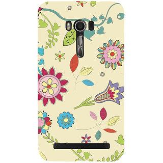 Snapdilla Multi Shaped Light Color Background Artistic Flower Pattern Back Cover For Asus Zenfone Go ZC500TG
