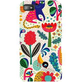 Snapdilla Modern Clipart Colorful  Floral Painting Animated 3D Print Cover For BlackBerry Z10