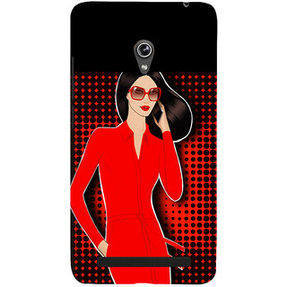 Snapdilla Colorful Pattern Superb Looking Red Hot Sexy Modern Girl Mobile Case For Asus Zenfone 5