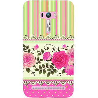 Snapdilla Colorful Pink Pattern Rangoli Lace Roses Different Mobile Pouch For Asus Zenfone Selfie ZD551KL