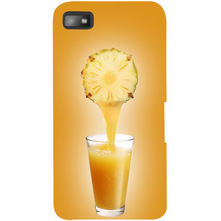 Snapdilla Light Background Classic Pineapple Juice Fruity Drink Unique Back Cover For BlackBerry Z10