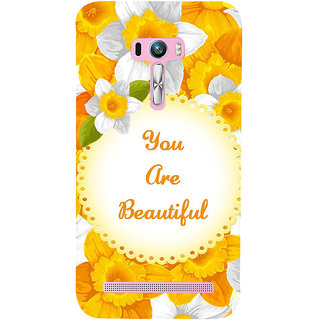 Snapdilla Yellow Flowers Background You Are Beautiful Quote Painting Mobile Case For Asus Zenfone Selfie ZD551KL