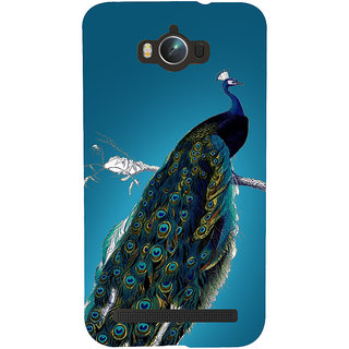 Snapdilla Artistic Modern Art Sober Lovely Peacock Quills Painting Mobile Pouch For Asus Zenfone Max