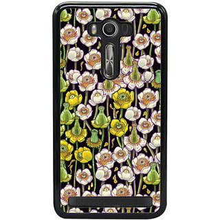 Fuson Designer Back Cover For Asus Zenfone 2 Laser ZE550KL (5.5 Inches) (Flowers Colourful Flowers Flower Drawing Yellow Flowers Beautiful Flowers)