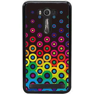 Fuson Designer Back Cover For Asus Zenfone 2 Laser ZE550KL (5.5 Inches) (Circles Spheres Ovals Rounds Double Circles)