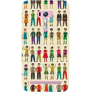Snapdilla Lovely Cute Twin Brothers Cute Sisters Unique Pattern Mobile Cover For Asus Zenfone Selfie ZD551KL