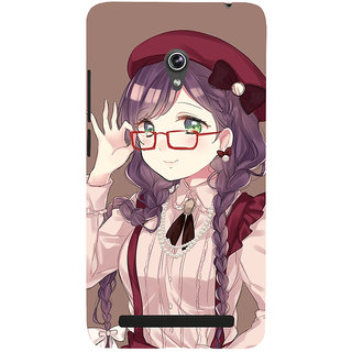 Snapdilla Artistic Awesome Animated Lovely Cartoon Girl Unique Designer Case For Asus Zenfone 5
