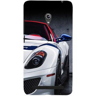 Snapdilla Distinctive Black Texture Unique Sports Car Hd Photo Cell Cover For Asus Zenfone 5