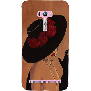 Snapdilla Trendy Texture Background Vintage Girl Painting 3D Print Cover For Asus Zenfone Selfie ZD551KL