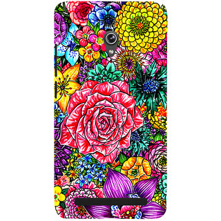 Snapdilla Colorful Clipart Flowers Beautiful Floral Design Mobile Case For Asus Zenfone 5